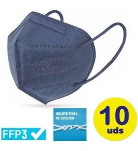 Sihogar.com mascarillas ffp3 ultra plus club náutico / pack 10 uds/ azules cv-45-ma - CLU-MASC CV-45-MA
