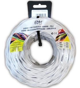 Edm paralelo textil trenzado 3x2,5mm blanco 25mts 8425998119909 - 11990