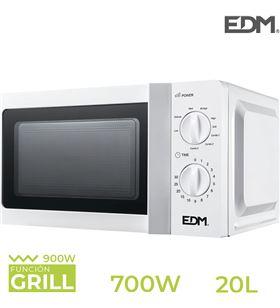 Edm s.of. microondas con grill - 20 litros - 700w - 8425998074086 - 07408