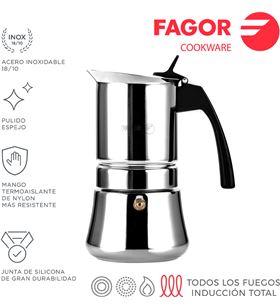 Fagor cafetera inox etnica 4t acero inoxidable 18/10 8429113800376 - 78613