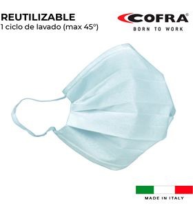 S.of. mascarilla semifacial reutilizable higienizada Cofra med mask-1 8023796563933 - 80090