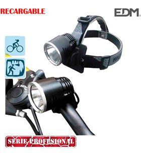 Edm linterna recargable con doble funcion cabeza y bicicleta con super led de 8425998361100 - 36110