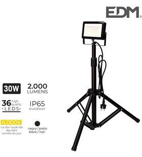 Edm foco proyector led con tripode 30w 4000k 2000 lumens 8425998703283 - 70328