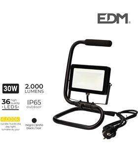 Edm foco proyector led con pie 30w 4000k 2000 lumens 8425998703276 - 70327