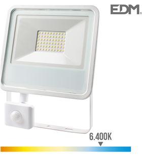 Edm foco proyector led 50w 3500 lm 6400k luz fria con sensor de presencia 8425998703788 - 70378