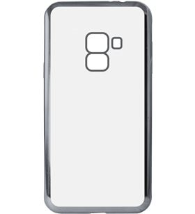 Ksix B8602FTP15 funda flex metal tpu para galaxy a8 2018 metalitzado gris - B8602FTP15