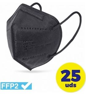 Sihogar.com caja de mascarillas ffp2 club náutico 25 unidades - color negro - envasadas cv-41-ne - CLU-MASC CV-41-NE