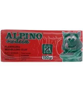 Sihogar.com plastilina 150 gramos roja sin gluten - alpino modela modelling clay dp0007101 - DP0007101