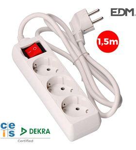 Edm base 3 tomas schuko c/interr. 3x1,5mts elek41009 - 8425998410099