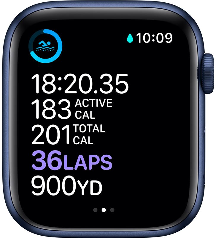 Apple M09A3TY/A watch s6 44mm gps cellular caja aluminio azul con correa azul marino - 85936640_9661936817