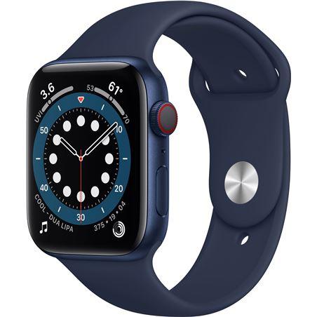 Apple M09A3TY/A watch s6 44mm gps cellular caja aluminio azul con correa azul marino - M09A3TYA