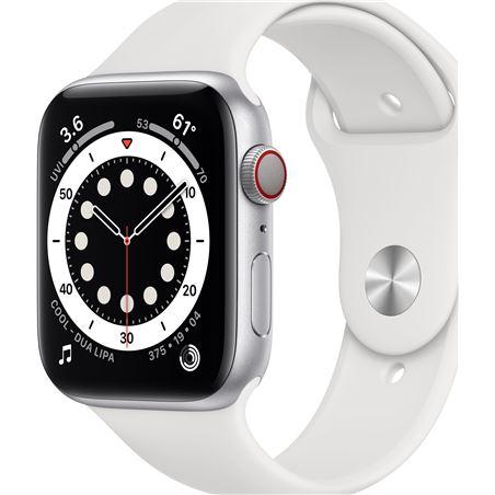 Apple watch s6 44mm gps cellular caja aluminio con correa blanca sport band MG2C3TY/A - MG2C3TYA