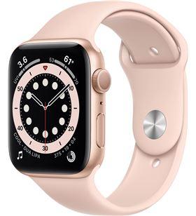 Apple watch s6 44mm gps caja aluminio oro con correa rosa arena sport band M00E3TY/A - M00E3TYA