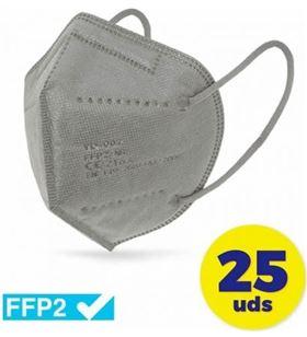 Sihogar.com CV-41-GR caja de mascarillas ffp2 club náutico 25 unidades - color gris - envasadas - CLU-MASC CV-41-GR