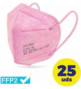 Sihogar.com CV-41-RS caja de mascarillas ffp2 club náutico 25 unidades - color rosa - envasadas - CLU-MASC CV-41-RS