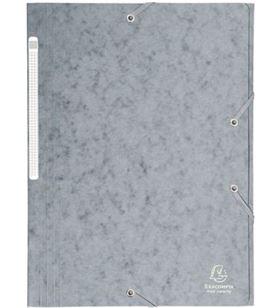 Sihogar.com carpeta de gomas de carton a4 - gris - 3 solapas - hasta 150 hojas de 80 gr exa17110h - EXA17110H