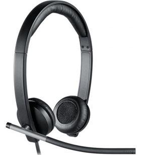 Auriculares Logitech h650e/ con micrófono/ usb/ negros 981-000519 - LOG-AUR H650E