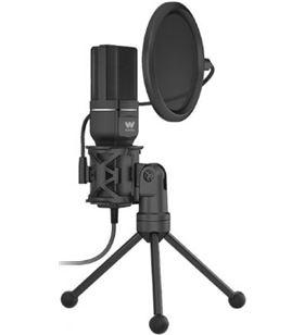 Micrófono con trípode y pop killer Woxter mic-studio 60/ usb 2.0 WE26-026 - WOX-MIC WE26-026