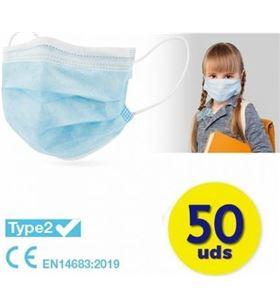 Sihogar.com caja de mascarillas quirurgicas infantiles iir club nautico 50 unidades - c cv-18-az - CLU-MASC CV-18-AZ