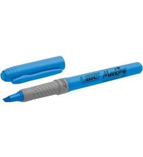 Caja 12 unidades marcador fluorescente Bic highlighter grip azul - tinta a 811931 - 070330330979