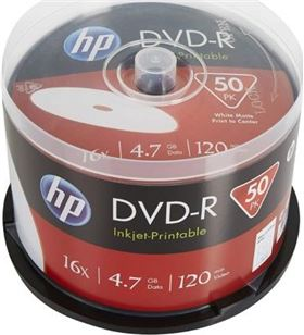 Dvd-r Hp DME00025WIP-3 inkjet printable 16x/ tarrina-50uds - DME00025WIP-3