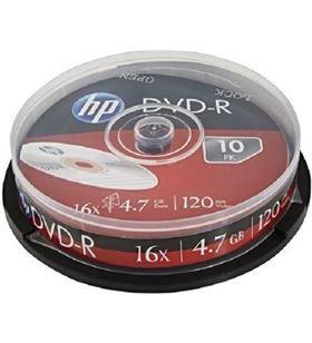 Hp DRE00027-3 dvd+r 16x/ tarrina-10uds DVD Grabador - HP-DVD+R DRE00027-3
