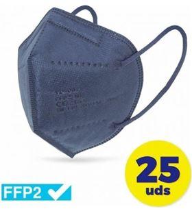 Sihogar.com CV-41-MA caja de mascarillas ffp2 club náutico 25 unidades - color azul - envasadas - CLU-MASC CV-41-MA