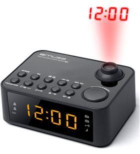 Muse +23774 #14 m-178 p negro radio despertador am/fm con altavoz integrado y proyecto m178p - +23774 #14