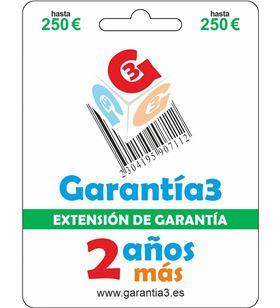 Extension de Garantia fisico Garantia3 para productos hasta 250eur G3ES250 - 8033509880271