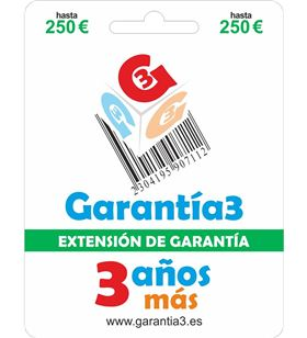 Garantia G3ES250 extension de fisico 3 para productos hasta 250eur - 8033509880271