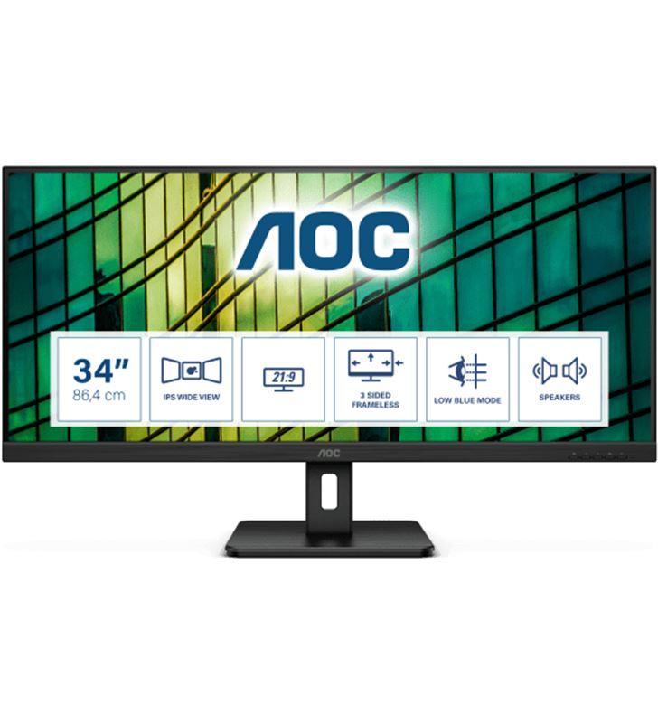 Aoc Q34E2A monitor ultrapanorámico 34''/ wfhd/ multimedia/ negro - Q34E2A