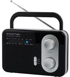 Brigmton BT-250-N negro radio am/fm analógica portátil a red o pilas - +20296