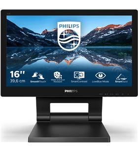 Philips L-M 162B9T monitor profesional táctil 162b9t 15.6''/ hd/ multimedia/ negro 162b9t/00 - 162B9T00