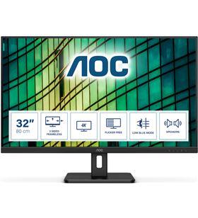 Aoc U32E2N monitor profesional 31.5''/ 4k/ multimedia/ negro - AOC-M U32E2N