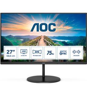 Aoc U27V4EA monitor profesional 27''/ 4k/ multimedia/ negro - AOC-M U27V4EA