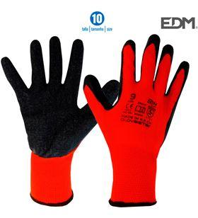 Edm guante soporte polyester y recubrimiento de latex talla 10 8425998802078 - 80207