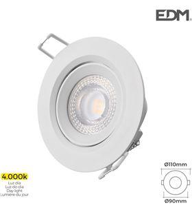 Edm downlight led empotrable 5w 4.000k redondo marco blanco 8425998316315 - 31631
