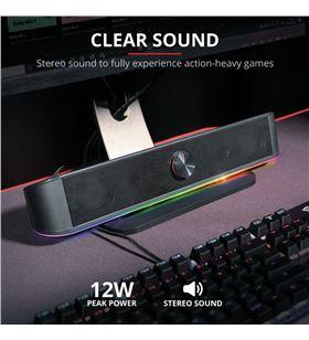 Trust 24007 barra sonido gaming # gxt 619 thorne iluminación rgb - TRU24007