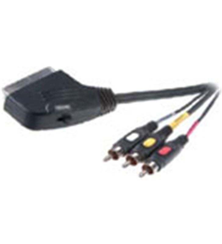 Cable euro a 3rca in/out 2mt Vivanco 42017 Accesorios de imagen y sonido - 9-84-N-42017