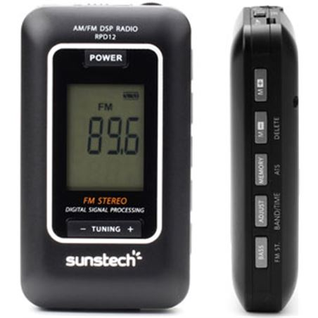 Radio portatil digital Sunstech RPD12 Radio - RPD12BK