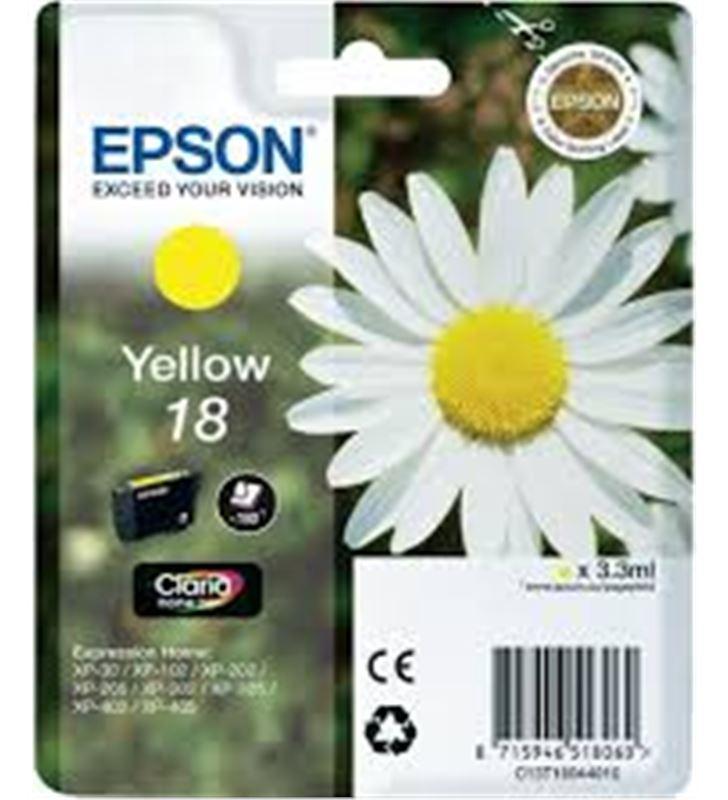 Cartucho tinta Epson C13T18044010 amarillo (marga Fax digital y cartuchos de tinta - C13T18044010