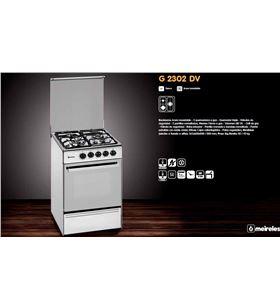 Meireles cocina convencional G2302DVXNAT, 3 fuegos, nat