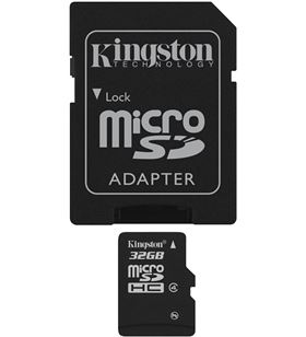 Kingston microsd 32gb - tarjeta de memoria flash b sdc4/32gb