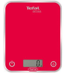 Balanza cocina Tefal BC5003, optiss roja, 1g a 5 Basculas - BC5003