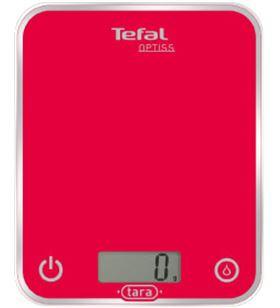 Balanza cocina Tefal BC5003, optiss roja, 1g a 5