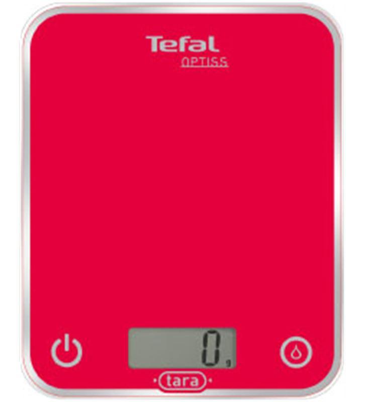 Balanza cocina Tefal BC5003, optiss roja, 1g a 5 Basculas de cocina - BC5003