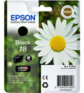 Cartucho tinta Epson C13T18014010 negro (margarits - C13T18014010