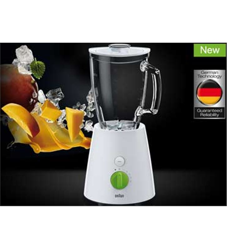 Braun 800w. batidora de vaso blanca. jb3060wh vaso de cristal, 1, - JB3060WH