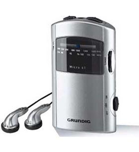 Radio portatil Grundig GRR1991 micro61 silver/grey