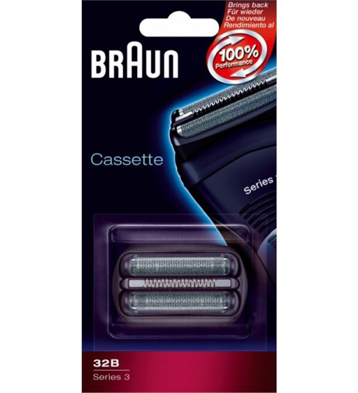 Braun CASSETTE32B lamina+cuchilla apta afeitadora nueva serie3 brapack32b - CASSETTE32B
